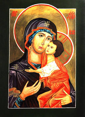 Painting - Mother Of God Antiochian Orthodox Icon by Patrick Kelly