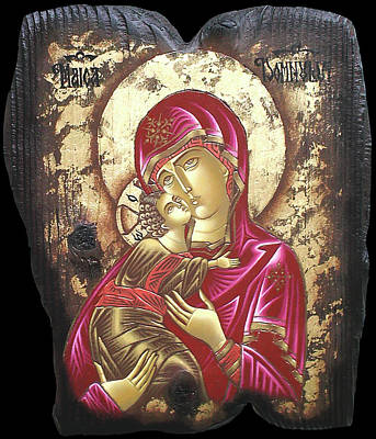 Mother Of God Art Print by Iosif Ioan Chezan