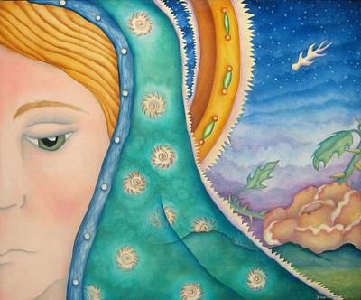 Virgen De Guadalupe Painting - Mother Of My Soul by Jeniffer Stapher-Thomas