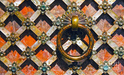 Photograph - Mother Of Pearl And Copper Door In The Aga Khan Museum by Nina Silver