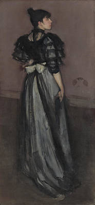 Whistler Painting - Mother Of Pearl And Silver - The Andalusian by James Abbott McNeill Whistler