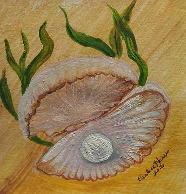 Mother Of Pearl Painting - Mother Of Pearl by Carlene Harris