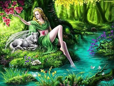Mother Of God Digital Art - Mother Of Sleipnir by Deva