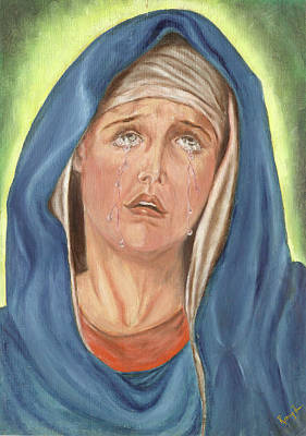 Painting - Mother Of Sorrow - Mater Dolorosa by Remy Francis