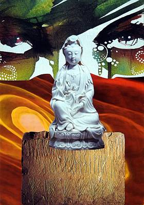Kwan Yin Mixed Media - Mother One - The Sacred Feminine by Licia Berry