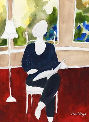 Painting - Mother Reading by Janel Bragg