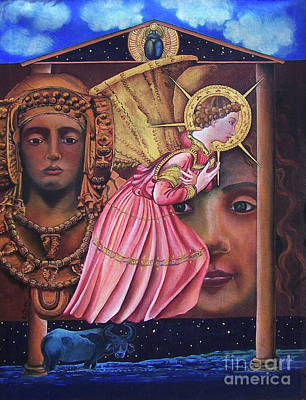 Dama Painting - Angelic Visitation Of A Folk Memory by Kathleen Gray