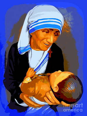 Photograph - Mother Teresa And Child #2 by Ed Weidman