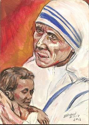 Painting - Mother Teresa by Bryan Bustard