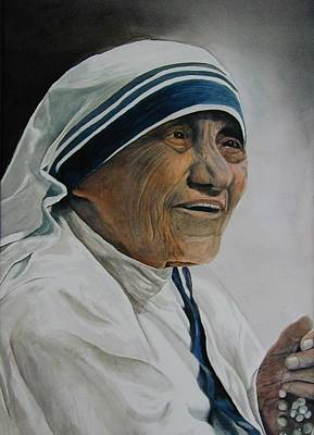 Mother Teresa Art Print by Dwight Williams