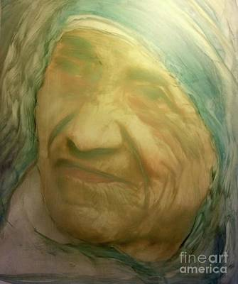Painting - Mother Teresa by FeatherStone Studio Julie A Miller