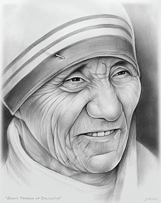 Drawing - Mother Teresa by Greg Joens