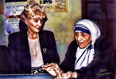 Mother Teresa In Calcutta Art Print by Kathy Tarochione
