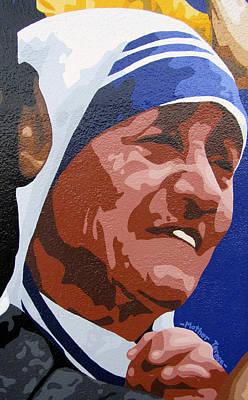 Valdes Painting - Mother Teresa by Roberto Valdes Sanchez