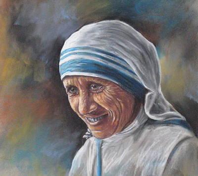 Mother Teresa Art Print by Sam Pearson