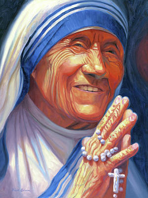 Teresa Painting - Mother Teresa by Steve Simon