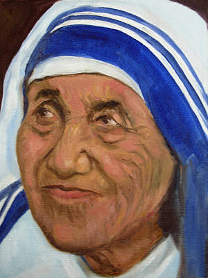 Mother Theresa Art Print by Asha Sudhaker Shenoy