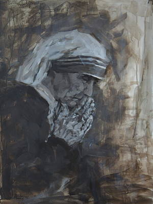 Mother Theresa Painting - Mother Theresa by Mary Haas
