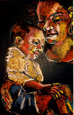 Painting - Mother With Child by Doris  Lane Grey