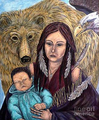 Painting - Motherhood-guardian Spirits by Kim Jones