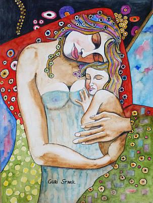 Owls - Motherhood - Tribute to Klimt by Guri Stark