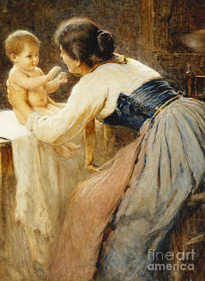 Edge Painting - Motherly Love by Publio de Tommasi