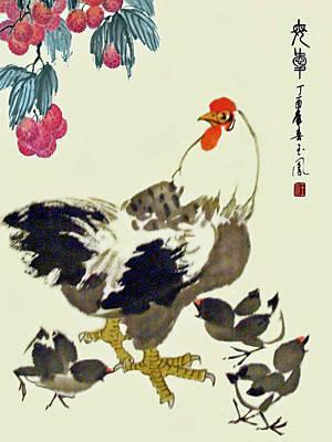 Motherly Love Art Print by Yufeng Wang