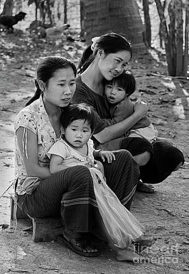 Photograph - Mothers And Children - Laos by Craig Lovell