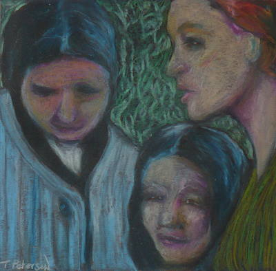 Painting - Mothers And Daughters by Todd  Peterson