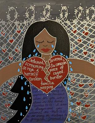 Painting - Mothers At The Border by Angela Yarber