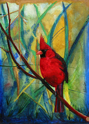 Painting - Mother's Cardinal by Kimbo Jackson