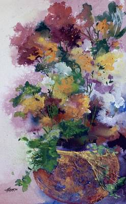 Painting - Mother's Day Floral by Helen Harris