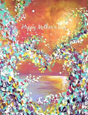 Painting - Mother's Day Greeting Card Heart by Jacqui Hawk