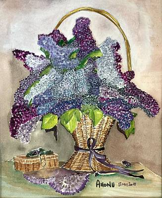 Painting - Mothers Day Lilacs by Ahonu