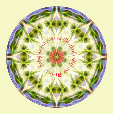 Digital Art - Mother's Day Mandala 1 by Beth Sawickie