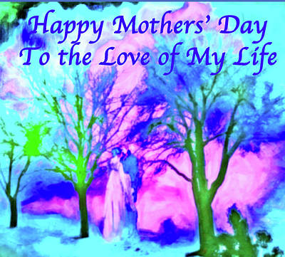 Digital Art - Mothers' Day Romantic by Femina Photo Art By Maggie