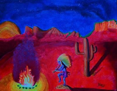 Kokopeli Painting - Mother's Helper by Bonnie Blanco