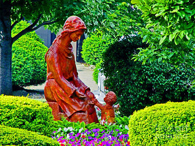 Mother's In The Garden Print by Don Baker