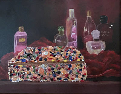 Painting - Mother's Jewelry Box by Quwatha Valentine