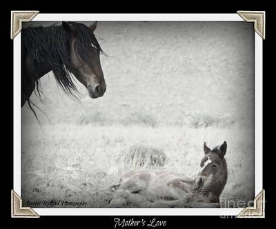 Photograph - Mothers Love Black And White by Bobbee Rickard