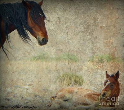 Photograph - Mothers Love Digital Painting  by Bobbee Rickard