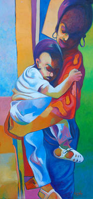Painting - Mother's Love by Glenford John