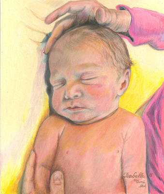 Drawing - Mother's Love -isabelle by Jan Dappen
