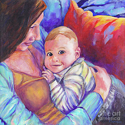Painting - Mother's Love By Peggy Johnson by Peggy Johnson