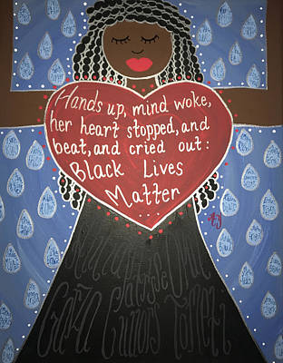 Painting - Mothers Of Black Lives Matter  by Angela Yarber