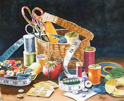 Mother's Sewing Basket Original by Susan Moyer