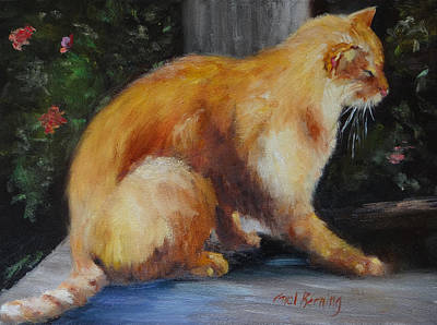 Painting - Mother's Yellow Tom by Carol Berning