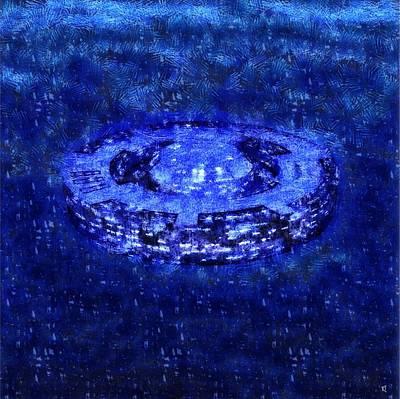 Mothership Blue Art Print