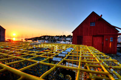 Photograph - Motif 1 Lobster Trap Sunrise by Toby McGuire
