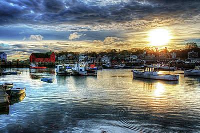 Photograph - Motif #1 Sunrise Rockport Ma by Toby McGuire